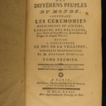1772 World Superstitions & Customs Japan Florida Hottentot Cortez Egypt Orville