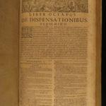1669 Sanchez On Marriage Jesuit LAW Sexuality Perversion Forbidden Books! FOLIOS