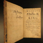 1681 Eikon Basilike Trial of King Charles I of English Civil War John Gauden