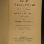 1856 1st ed Elisha Kane Arctic Explorations Voyages Franklin Expedition Map 2v