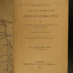 1849 First Settlers on Oregon River INDIANS Ross Astoria Expedition America MAP