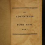 1813 1st ed Daniel BOONE The Mountain Muse Pioneer Americana Western Adventures