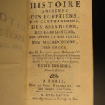 1769 Ancient History Rollin Greek Babylon Persia EGYPT Alexander the Great 14v