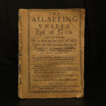 1647 1ed PURITAN Matthew Newcomen All-Seeing Unseen Eye of God Church of England