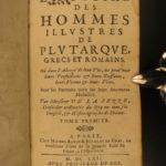 1662 PLUTARCH Parallel Lives FINE BINDING Alexander the Great la Serre RARE