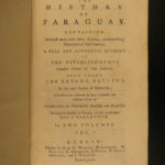 1769 1ed Charlevoix History of Paraguay Jesuit Missionary Voyages Brazil Tribes