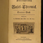 1779 1ed Basel Chronicle Switzerland Europe History Bruckner Thurneysen 1600-20