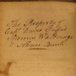1798 US Constitution + Declaration + Capt Safford REVOLUTIONARY WAR Provenance