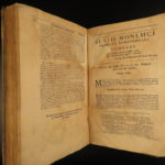 1674 1ed ENGLISH Montluc Military War Commentaries France Solider Bible Firearms