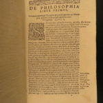 1603 Pereira Metaphysics & Aristotle Natural Philosophy Physics Spanish Jesuit