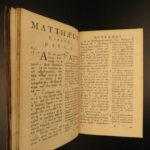 1702 BIBLE Greek & Latin New Testament Calvinism Hebraica Jan Leusden Leiden