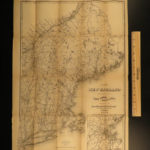 1873 1ed Osgood New England ATLAS Traveler Guide MAPS New York Quebec Geography