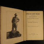 1910 1ed Theodore Roosevelt Illustrated Africa Big Game Trails HUNTING Sporting