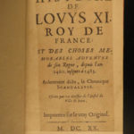 1620 Louis XI King of France Jean de Roye Hundred Years War Charles VII