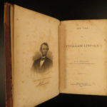 1866 1ed Abraham Lincoln Life Americana Civil War Abolition Slavery Holland