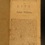 1796 Paradise Lost BOSTON John Milton Poetry + Regained RARE American ed Newton