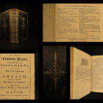 1763 Book of Common Prayer Bible Psalms Church England Liturgy Bentham Cambridge
