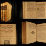 1695 HUGE FOLIOS Early Church History Eusebius Caesarea & Theodoret Cyrus Valois
