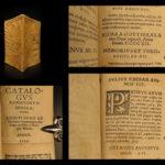 1553 Sabinus Catalog of Roman & German Emperors ROME Charlemagne Augustus Caesar