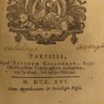 1716 1ed Hebrew Grammar by Masclef Masoretic text Jewish Bible Judaica Hebraica