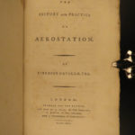 1785 1st ed AVIATION Aerostation BALLOONING Flying Science Experiments Cavallo