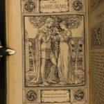 1882 1ed GRIMM Fairy Tales Snow White Rapunzel Illustrated Walter Crane ART