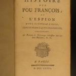 1781 History of a French Spy American Revolution Benjamin Franklin Espionage