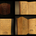 1756 Scottish Holy BIBLE Edinburgh Adrian Watkins + Belfast Psalms of David