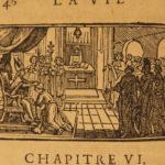 1696 1ed Life of St Cloud French Monastics Monks Miracles Clodoald Clovis Sueur
