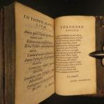 1583 GREEK Hierocles of Alexandria Golden Verses Pythagoras Marcilius Philosophy