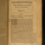 1640 History of Holy War CRUSADES Jerusalem anti-ISLAM Ottoman Map Thomas Fuller