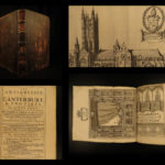 1703 Antiquities of Canterbury William Somner England FOLIO Illustrated Castles