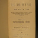 1883 1ed Life of Nephi Son of Lehi MORMON Prophecy LDS Church Mormonism Cannon