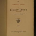 1896 Complete Scottish Robert Burns Scotland Poems Carnegie Limited ed 12v SET