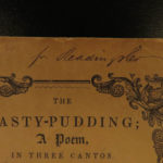 1847 1ed COOKING The Hasty Pudding Barlow Native American INDIAN Cookbook Recipe