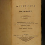 1834 EARLY Hunchback of Notre Dame de Paris Victor Hugo Bentley Novels English