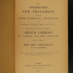 1820 1ed Apocryphal New Testament Bible Apocrypha Christian Legends William Hone