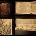 1696 Roman Republic ROME Map Military Gladiators Architecture LAW Senate Cantel
