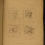 1786 Leonardo da Vinci ART Wenceslaus Hollar Sketches Caricature Portland Museum