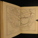 1857 ATLAS Hand-colored MAPS Ancient Geography Greece Holy Land France Britain