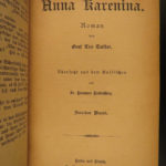 1894 Works of Leo Tolstoy Russian Literature Anna Karenina Caucasus GERMAN 3v