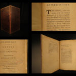 1784 1st ed SLAVERY Thomas Day Letter Declaration of Independence Abolition
