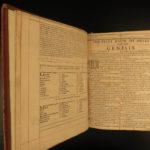 1655 PURITAN KJV Holy Bible Downame Concordance Evan Tyler English Gaywood RARE