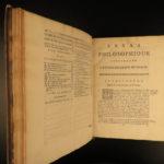 1735 John LOCKE Essay Concerning Human Understanding Philosophy Tabula Rasa