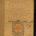 1618 Roman Rota Catholic Ecclesiastical LAW Vatican Cardinal Mantica Bologna