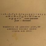 1518 1ed ALDINE Works of Giovanni Pontano Latin Prose Aldus Manuzio Post-Incun