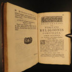 1696 Truth of Christianity Dutch Hugo Grotius Veritate Pennsylvania Provenance
