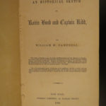 1853 1st ed Robin Hood & Captain William Kidd PIRATES Outlaw Legends England