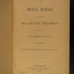 1868 HUGE Family Holy Bible American Bible Society NY King James KJV 4v SET