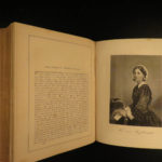 1873 1ed Portrait Gallery Illustrated Lincoln Grant Bronte Dickens Washington 2v